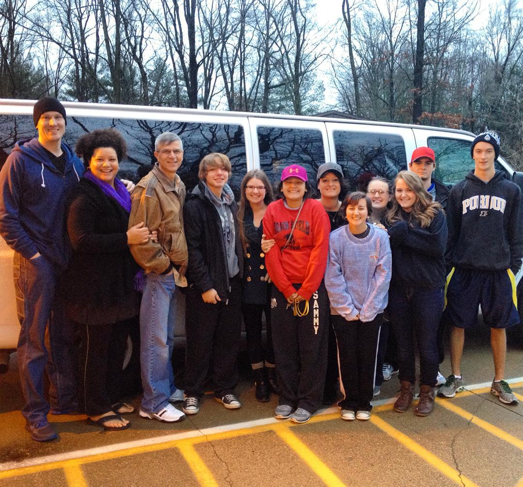 The group is off to #onething2015  #voiceministries #ihopmichiana @bmoore7174 @zachferrari637 @baymaka @audragraber