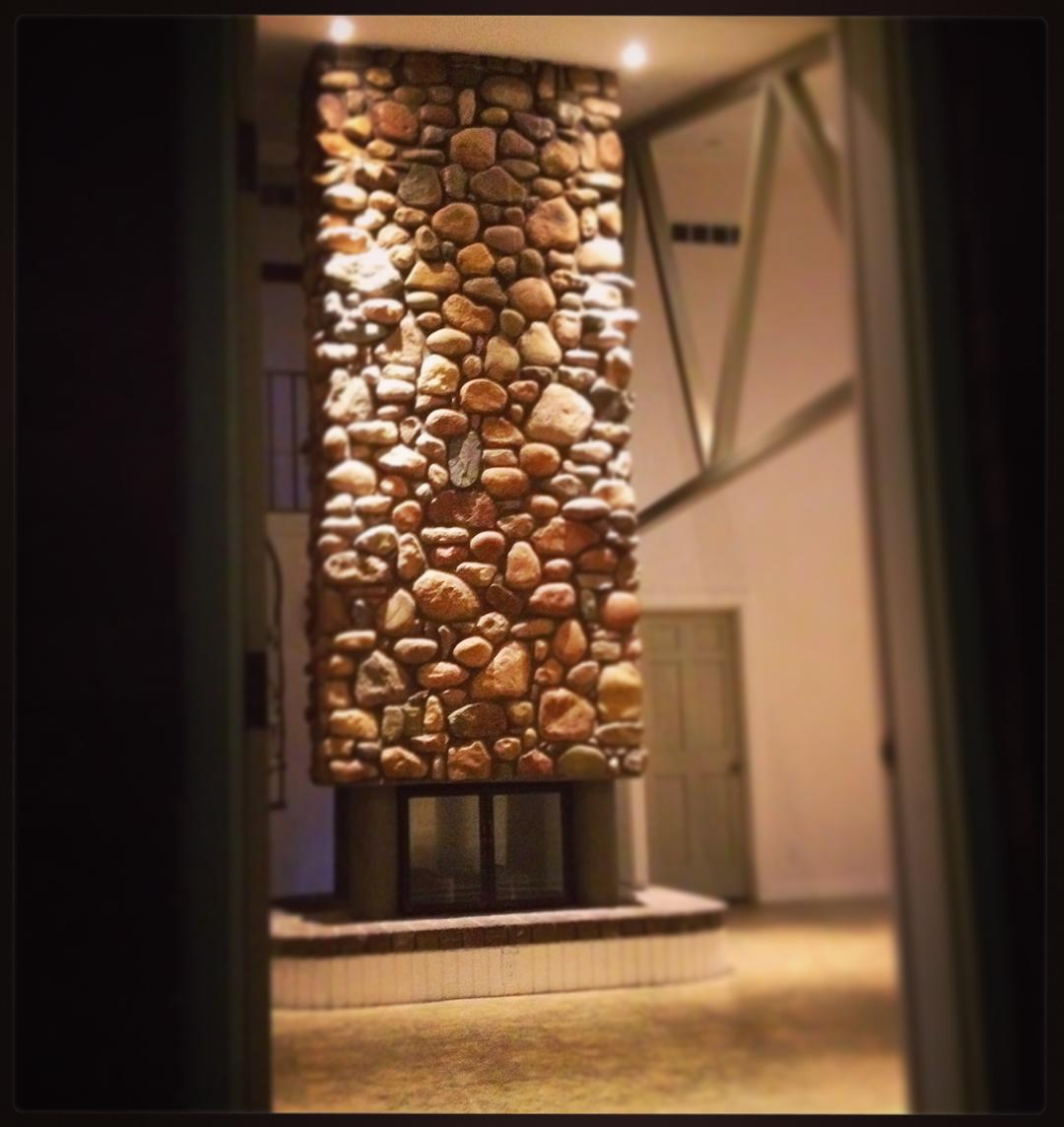 Looking out my office door. #massivefireplace #stonework #voiceministriescamp #voiceministries